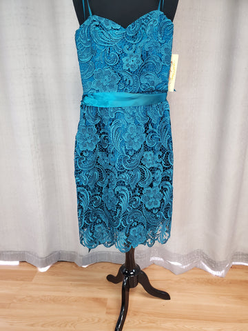 CD1467 Dress Teal Size Small