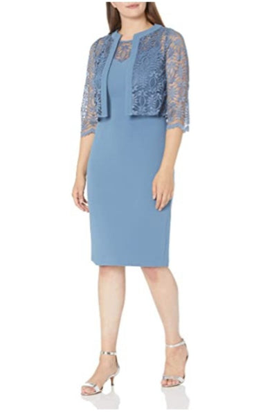 MAY26366 Dress Navy and French Blue