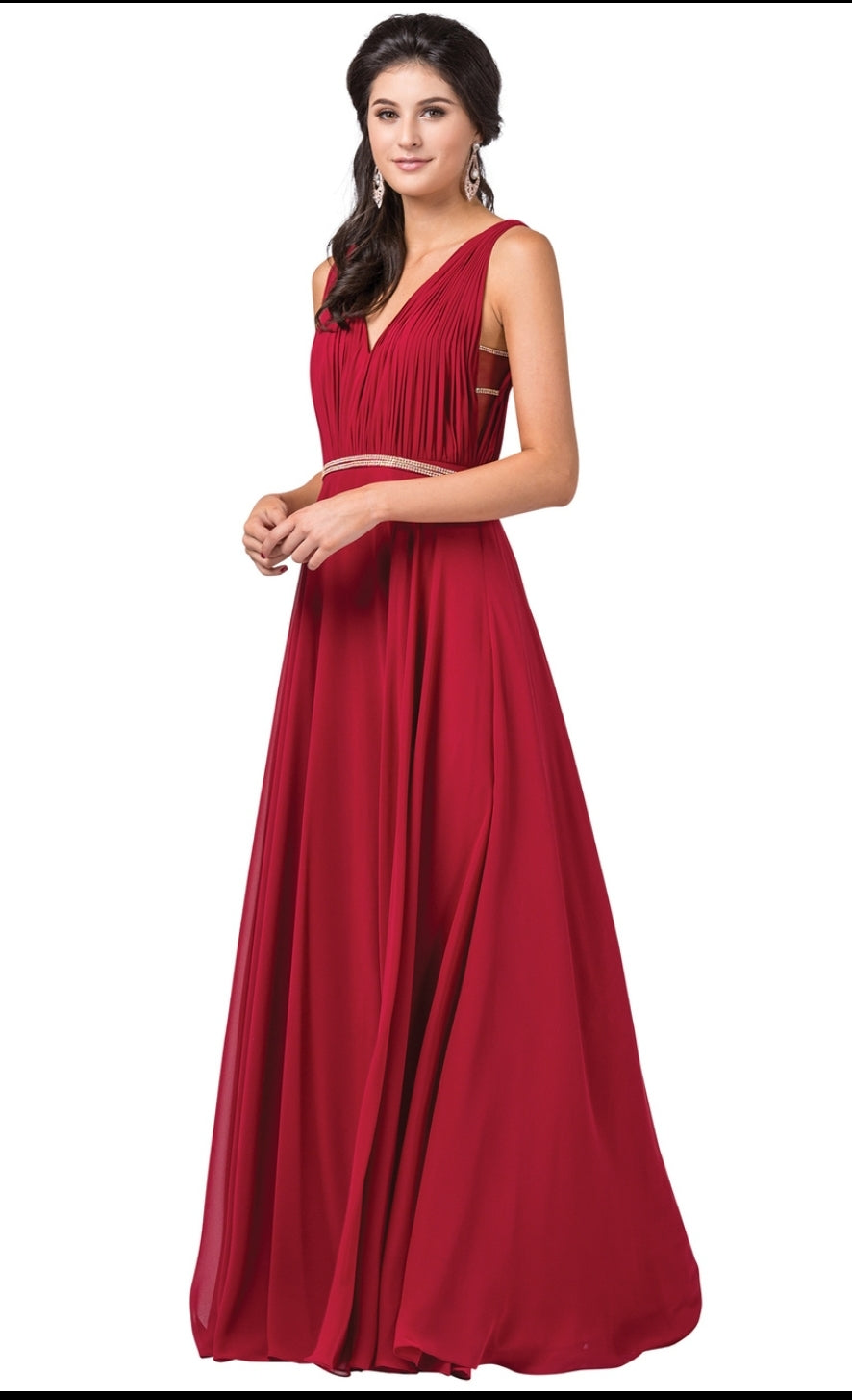 2588 Prom Dress Size XS Burgundy