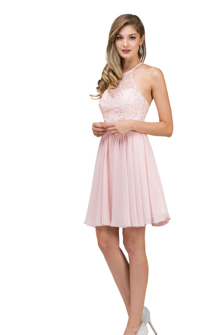 2010P Semi Prom/Homecoming Dress Size 3XL Blush Pink