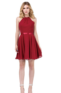 3013B Semi Prom/Homecoming Dress Size Medium Burgundy