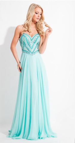 Rachel Allan C1019 Prom Dress Size 16 Jade