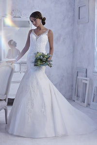 PC 18977 Wedding Dress Size 10 Ivory