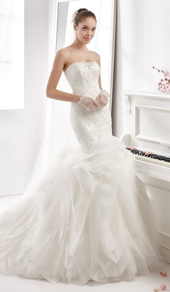 Aurora Nicole 16931 Wedding Dress Ivory Size 8