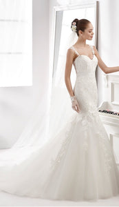 Aurora Nicole 16955 Wedding Dress White Size 12