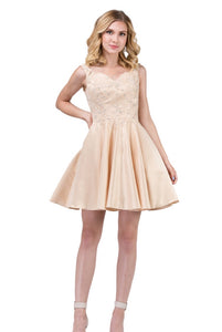 3057C Semi Prom/Homecoming Dress Size XS Champagne