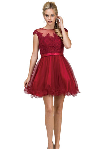2153B Semi Prom/Homecoming Dress Size XS Burgundy