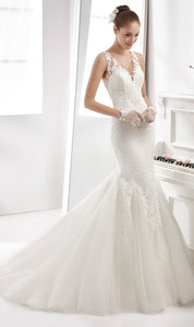 Aurora Nicole 16941 Wedding Dress Ivory Size 14