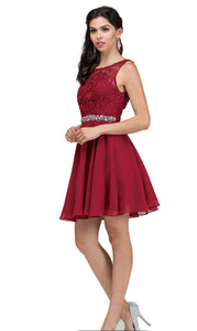 9659B Semi Prom/Homecoming Dress Size Small Burgundy