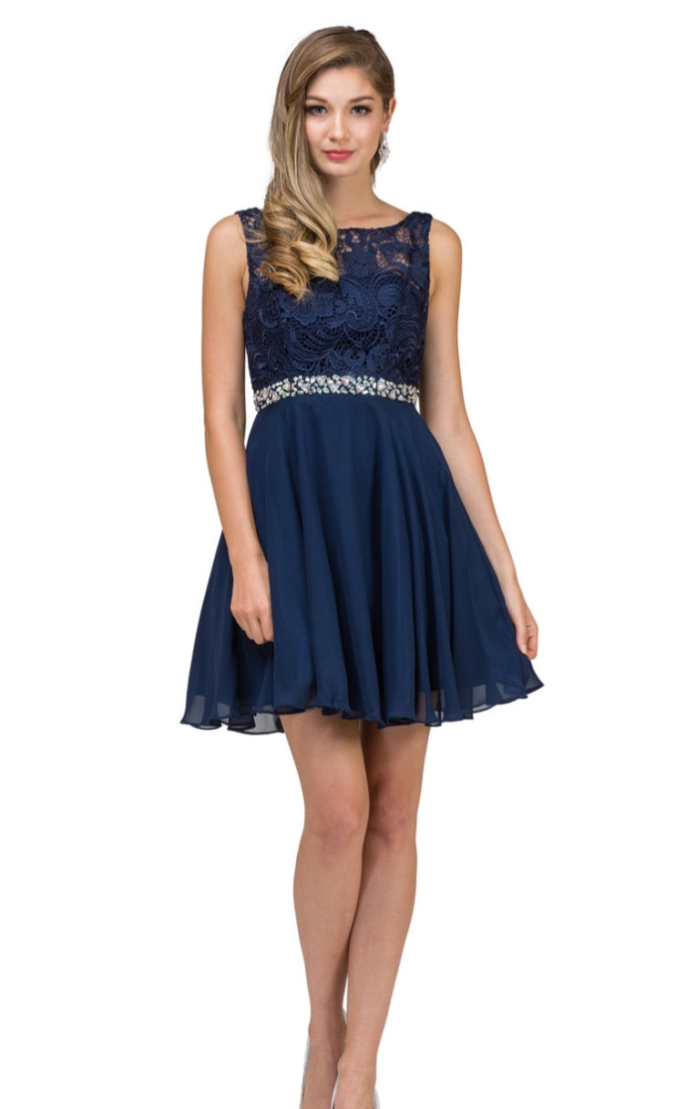 9659 Semi Prom/Homecoming Dress Size XS, Small or 2XL