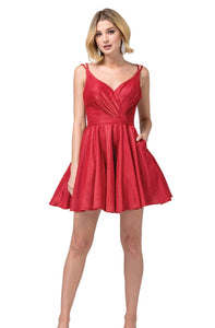 3183 Semi Prom/Homecoming Dress Size Red