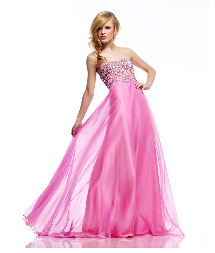 Riva Prom Dress Style R9752 Size 00 Pink