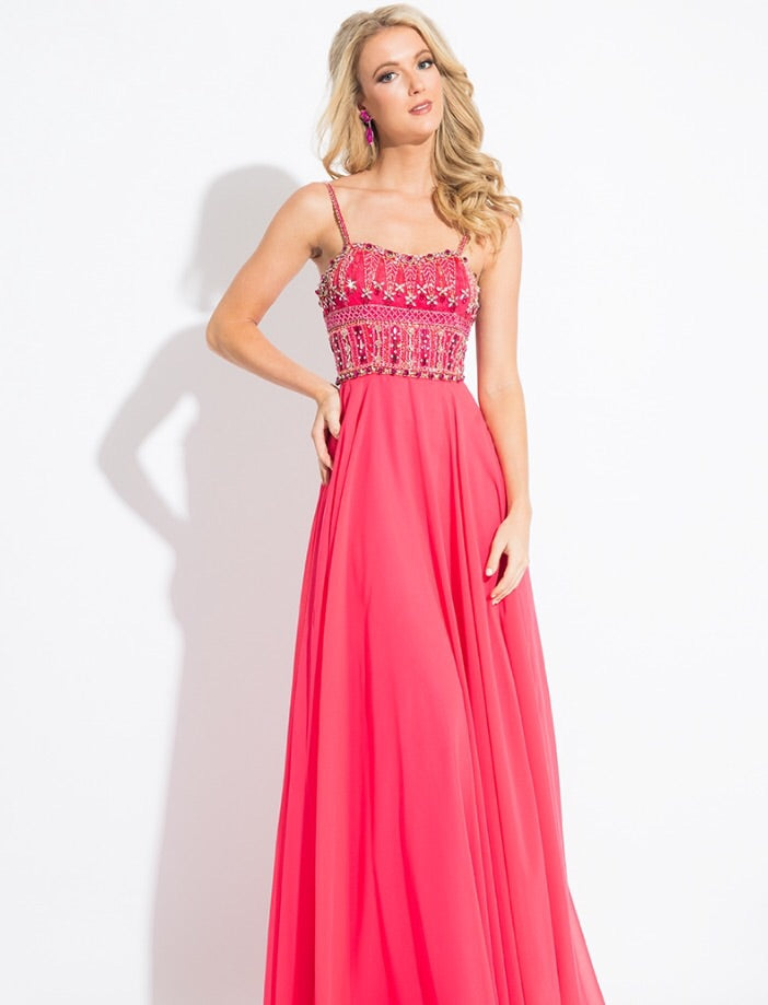Rachel Allan 2118 Prom Dress Size 6 Watermelon