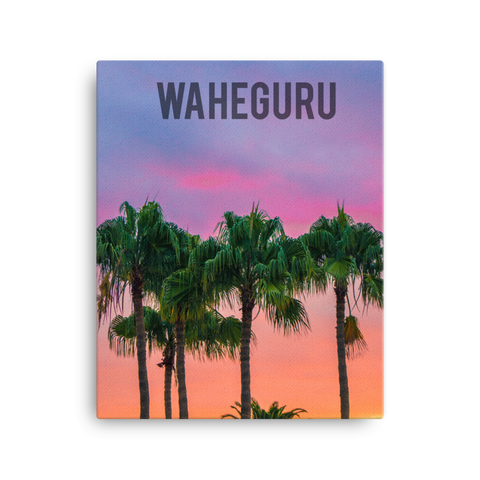 "Waheguru Sunset Canvas (20"" x 16"")"