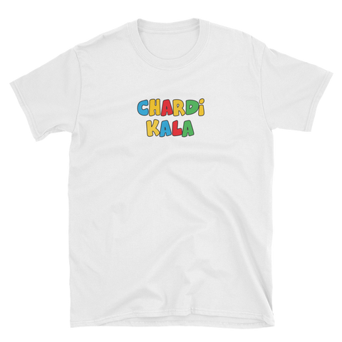 Chardi Kala Colored Tee (White)