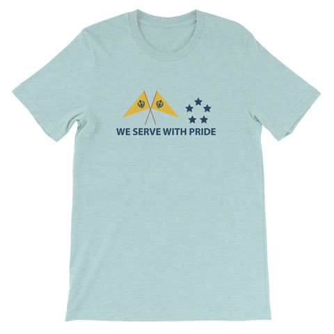 We Serve With Pride Tee (Blue Heather)