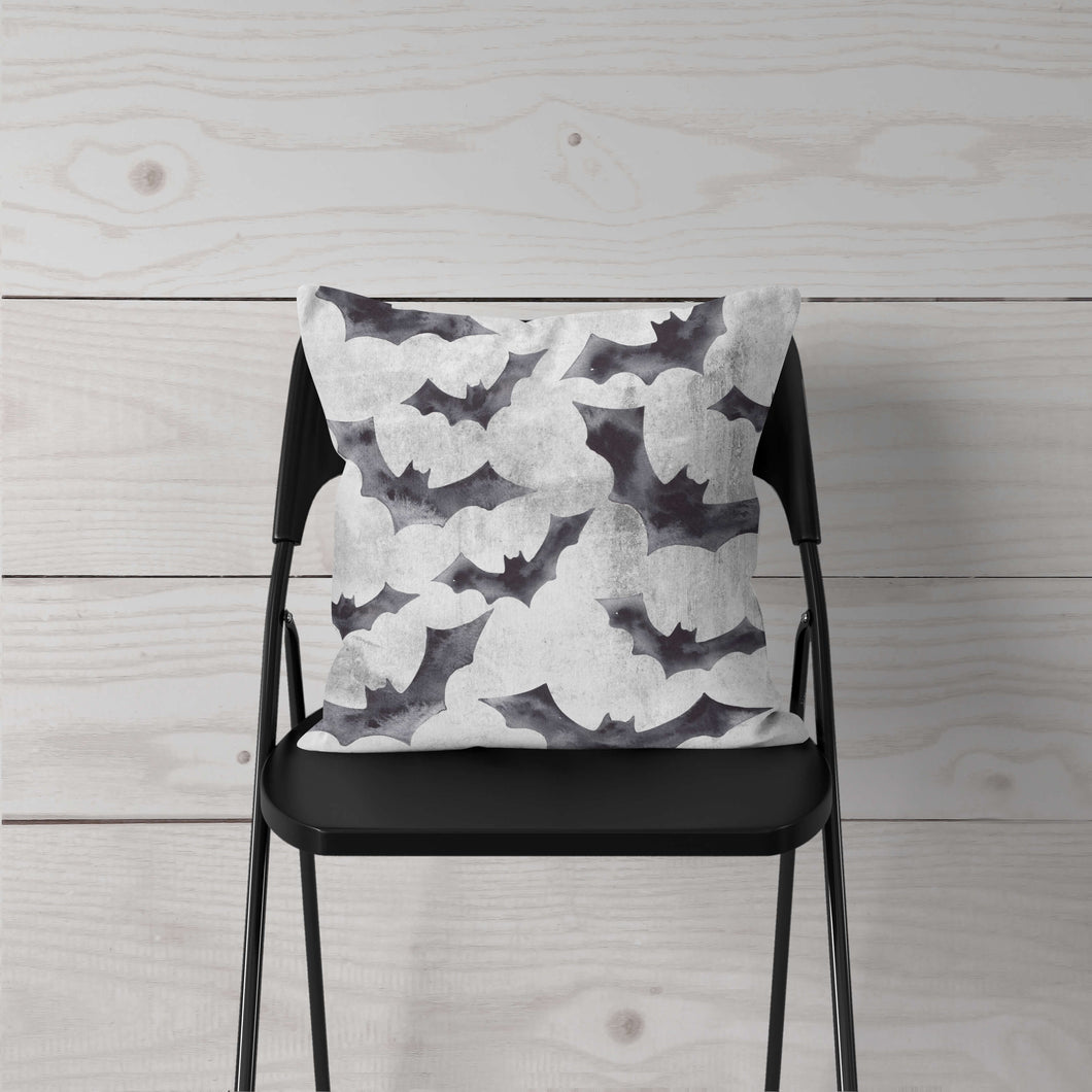 Black Bats Pillow Cover