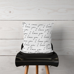 """I love you"" Pillow Cover"
