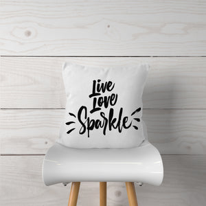 Live Love Sparkle-Pillow Cover