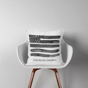 American Flag-Black-Pillow Cover