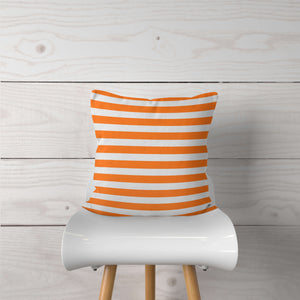 Orange Stripe-Pillow Cover