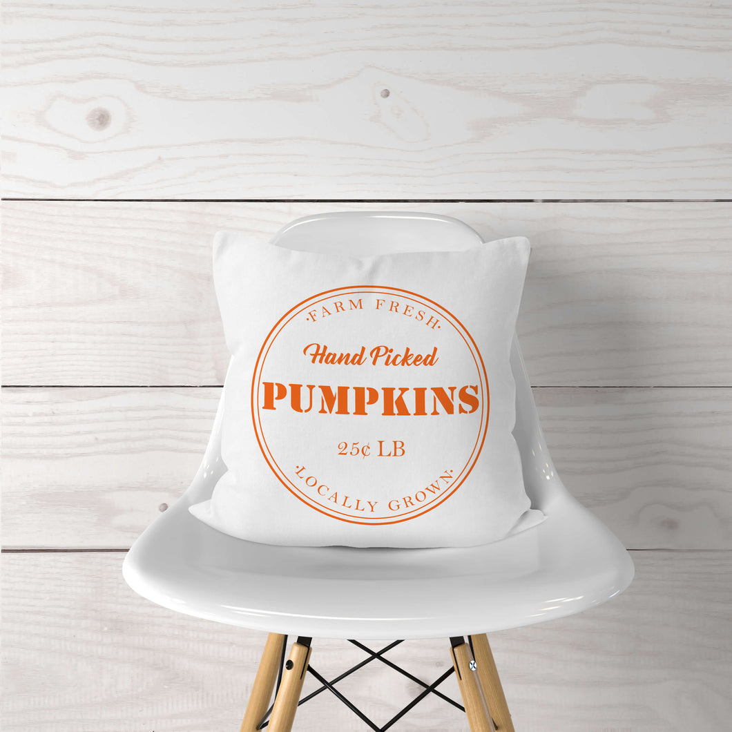 Hand Picked Pumpkins-Pillow Cover