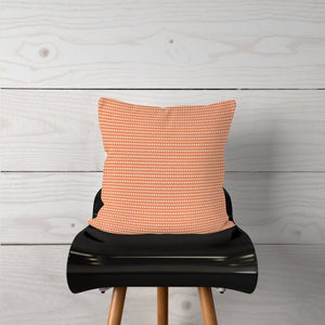 Light Orange Lines/Dots-Pillow Cover