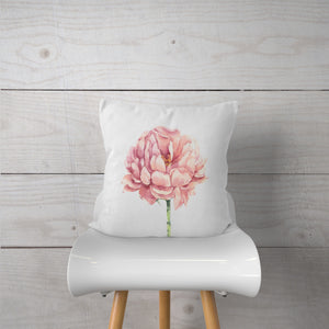 Watercolor Peony Flower-Pillow Cover