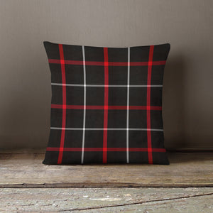 NEW!! Black-Red-White Stripe Pillow Cover