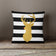Gold Deer with Black & White Stripes-Pillow Cover