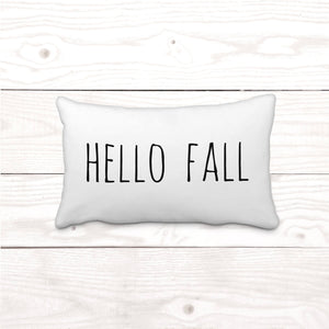 """Hello Fall"" Lumbar-Pillow Cover"
