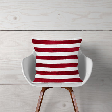 Watercolor Red Stripes