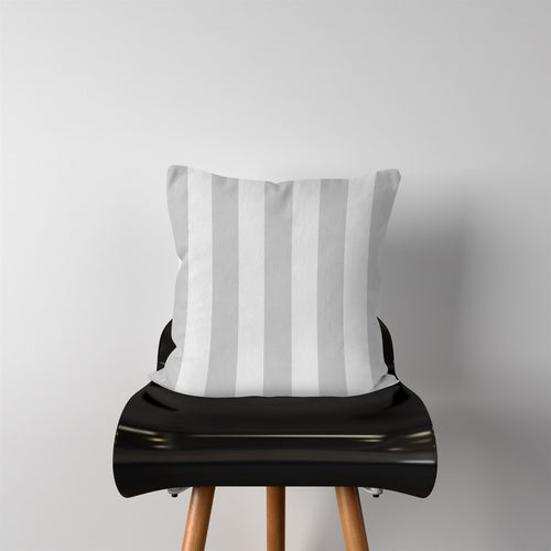 Light Gray Stripes-Pillow Cover