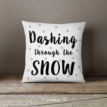 Dashing through the SNOW!- Pillow Cover