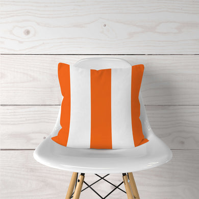 Thick Orange Stripe- Pillow Cover