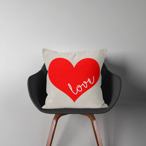 Valentine Pillow Covers-(Natural Beige Fabric Collection)