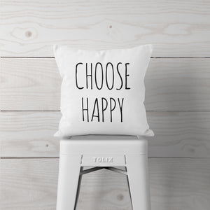 Choose Happy-Pillow Cover