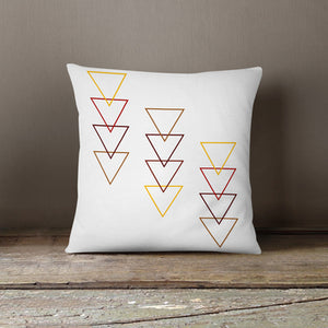 Abstract Triangles Pillow Cover
