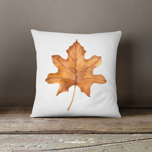 Watercolor Leaf-Pillow Cover