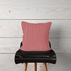 Thin Red White Stripe-Pillow Cover