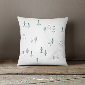 NEW!! Green Forest Trees Pillow Cover