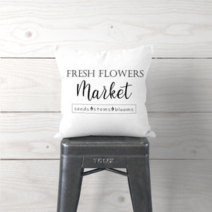 Fresh Flowers Market-Pillow Cover