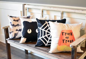 Candy Corn-Trick or Treat Pillow Cover