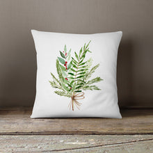 NEW!! Watercolor Mistletoe Pillow Cover