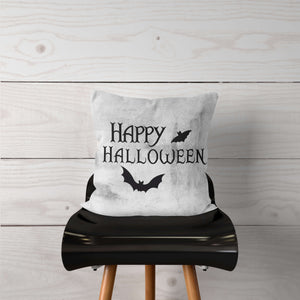 Happy Halloween with Bats Pillow Cover