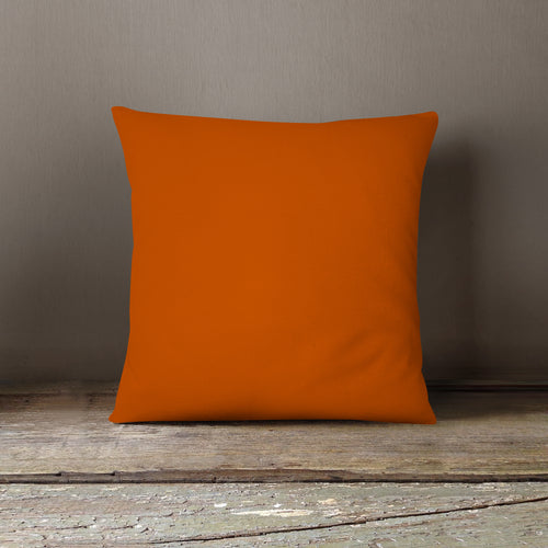 Burnt Orange Pillow Cover