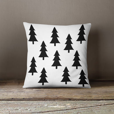 Black Trees-Pillow Cover