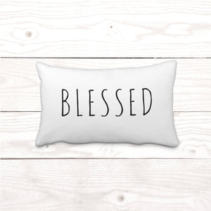 """Blessed"" Lumbar-Pillow Cover"