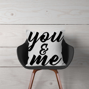 """you & me"" Pillow Cover"