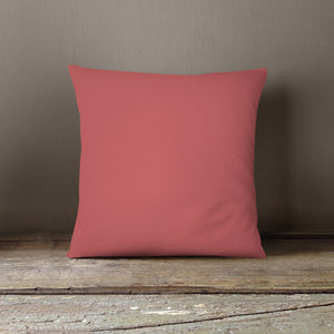 NEW!! Pale Red Solid Pillow Cover